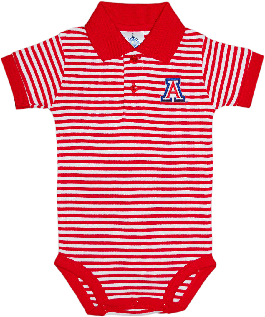 Arizona Wildcats Stripe Polo Bodysuit - Red