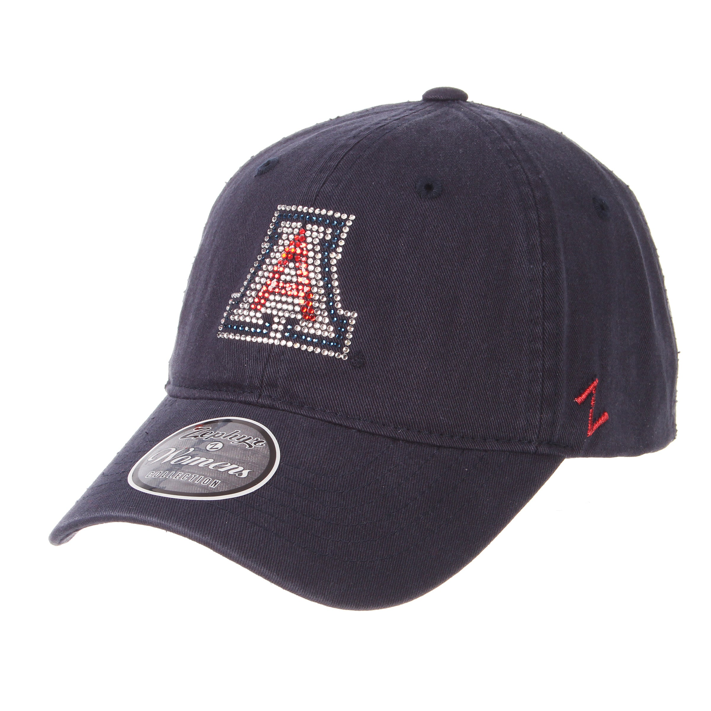 Arizona Wildcats Womens Girlfriend Rhinestone - Navy