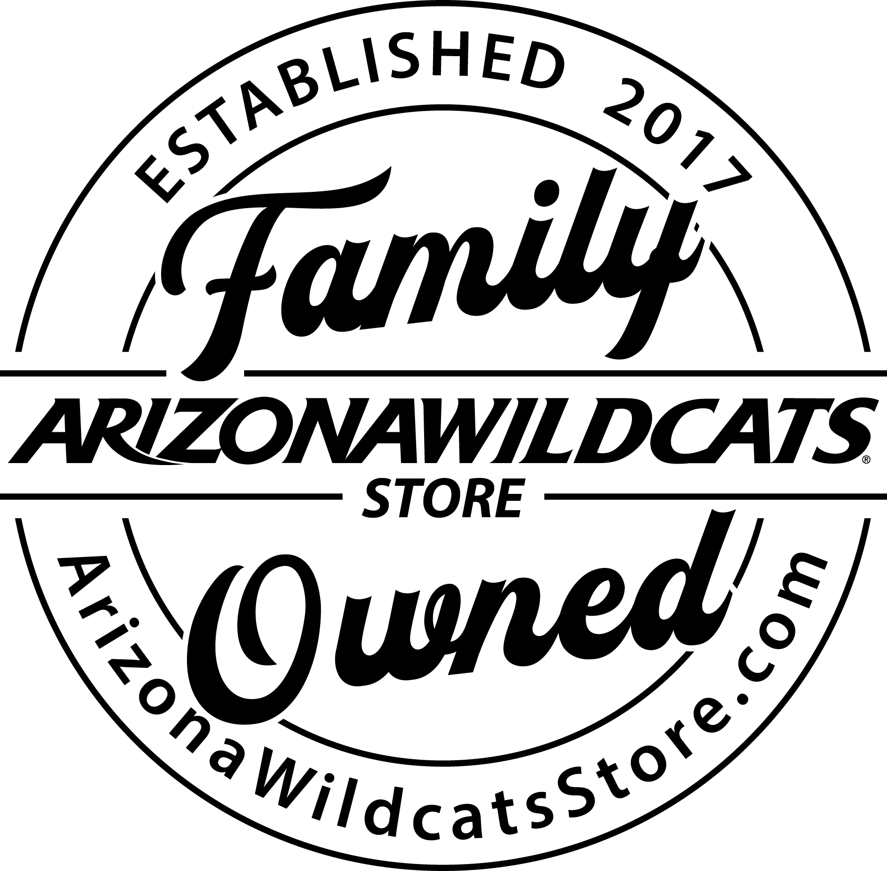 Arizona Wildcats UofA Tucson Handcrafted Concrete Coaster