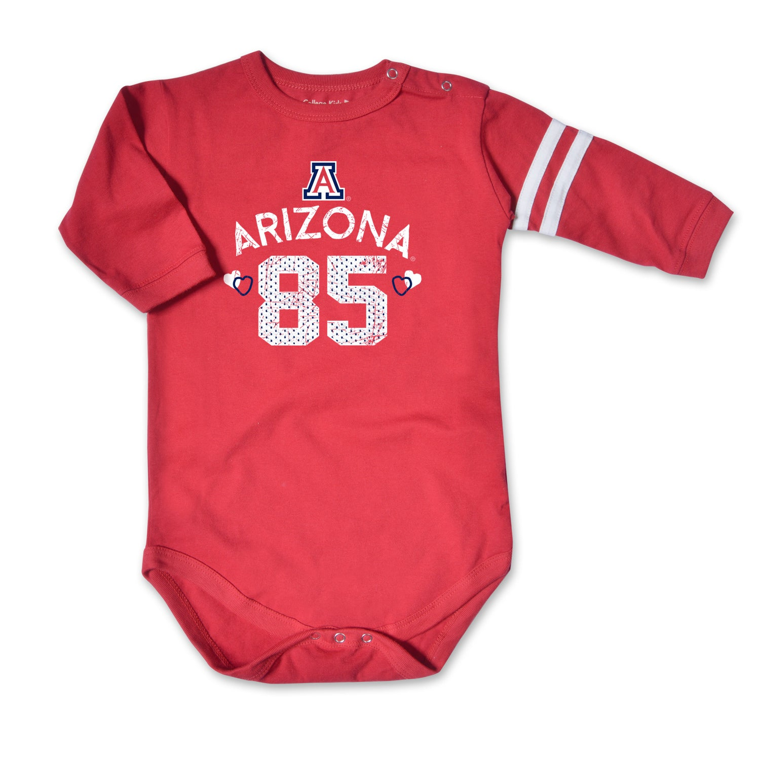 Arizona Wildcats Infant JV Heart Bodysuit - Red