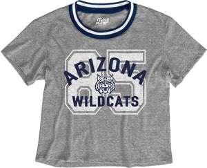 Arizona Wildcats Brooklyn Varsity Crop Tee - Grey