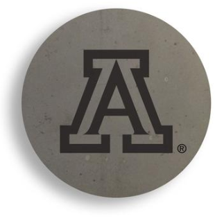 Arizona Wildcats UofA Handcrafted Concrete Coaster