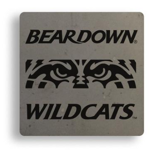 Arizona Wildcats Wildcat Eyes Handcrafted Concrete Coaster