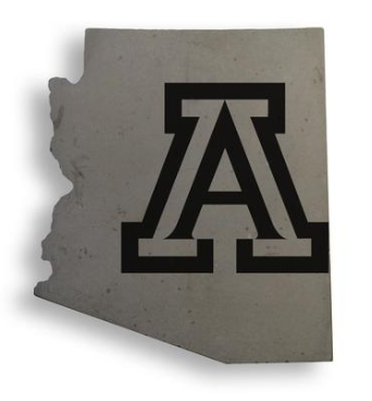 Arizona Wildcats UofA State Handcrafted Concrete Coaster