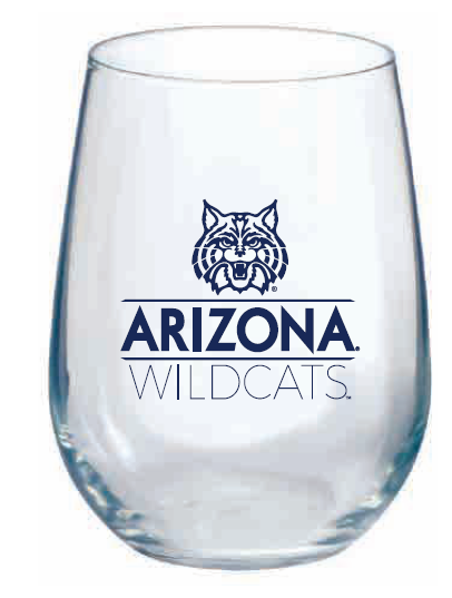 Arizona Wildcats Stemless Wine Glass 17 oz