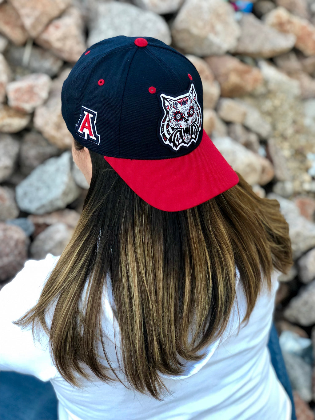 Arizona Wildcats Dia De Los Muertos Curved Hat Navy/Red