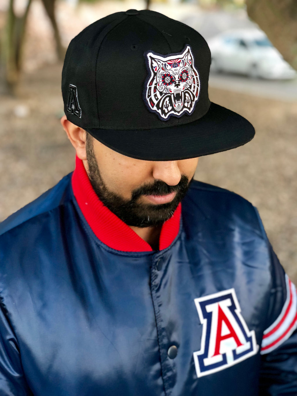 Arizona Wildcats Dia De Los Muertos Flat Hat Black