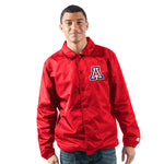 Arizona Wildcats The General Full Snap Coach's Jacket Red