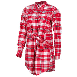 Arizona Wildcats Warm Up Flannel Dress - Red (Plus Size Available)