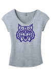 Arizona Blue Glitter Wildcat V-Neck