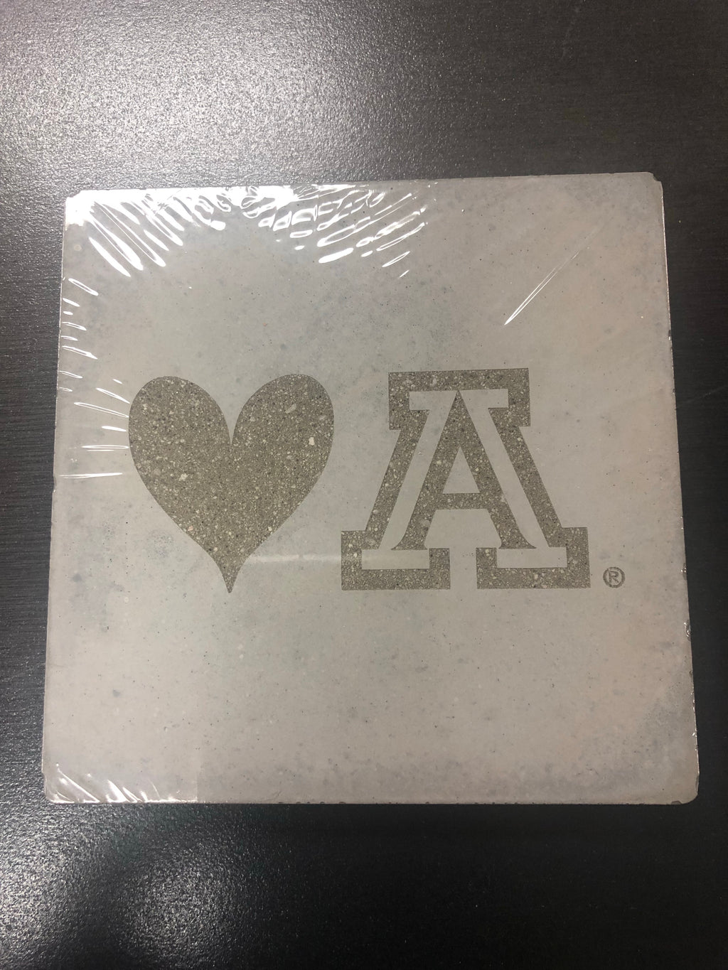 Arizona Wildcats Love UA Handcrafted Concrete Coaster