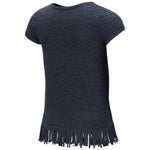 Arizona Wildcats Girls Kiki Fringe Hem S/S Tee - Navy