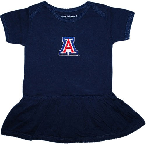 Arizona Wildcats Picot Bodysuit Dress - Navy