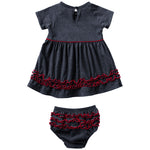 Arizona Wildcats Girls Infant Plucky Dress Set - Navy