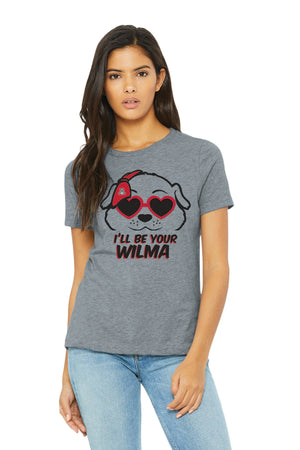 Arizona Wildcats I'll Be Your Wilma Tee - Athletic Heather