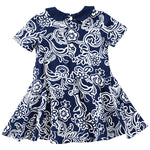 Arizona Wildcats Infant Girls Sasha Onesie Dress - Navy/White