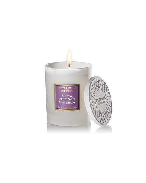 "Collines De Provance scented candle ""MUSK AND BERRY"", 180 g."