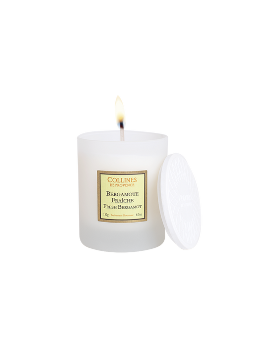 "Collines De Provance scented candle ""FRESH BERGAMOT"", 180 g."