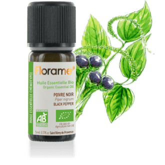 Black Pepper Organic Essential Oil, 5 ml