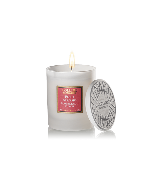 "Collines De Provence scented candle ""BLACKCURRANT FLOWER"", 180 g."