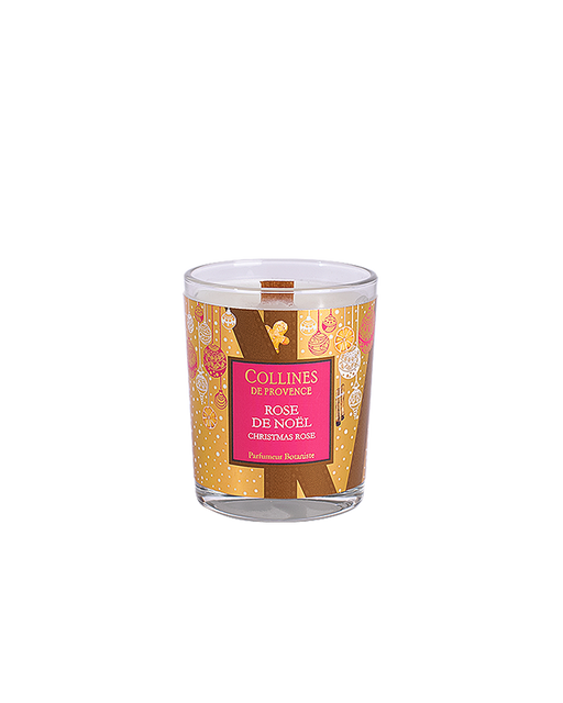 "Collines De Provance scented candle ""CHRISTMAS ROSE"", 75 g."