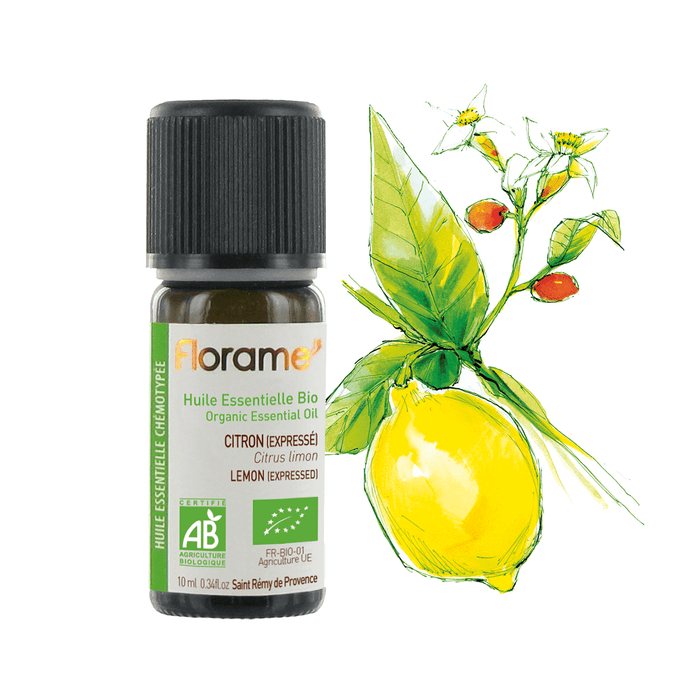Lemon Distilled Organic Essential Oil, 10 ml