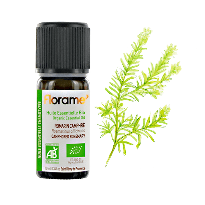 Camphorated Rosemary Organic Essential oil, 10 ml