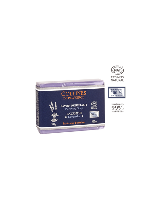 Collines De Provence Purifying Lavendar Soap, 100 ml.