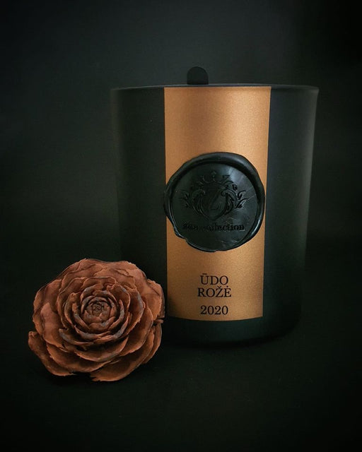 "Žiba collection scented candle ""Ūdo rožė"", 220 ml."