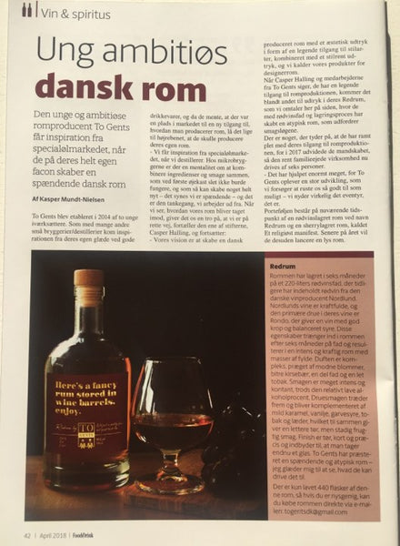 Redrum review by Food & Drink magazine