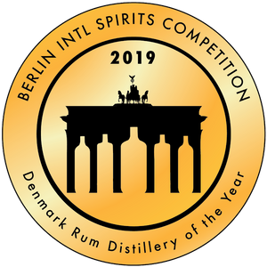 Berlin international spirits competition, gold winner 2019, distillery of the year, dansk rom, rum, rum spirit, dansk destilleri, distillery,