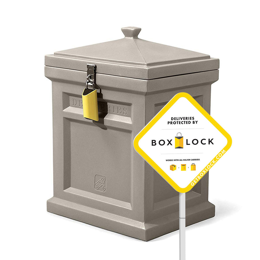 BoxLock + Step2 Deluxe Package Delivery Box Bundle