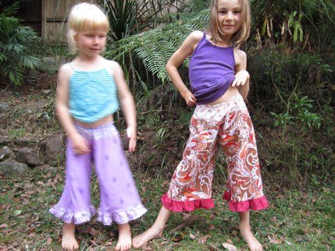 Lotus and Luna in frilly skants