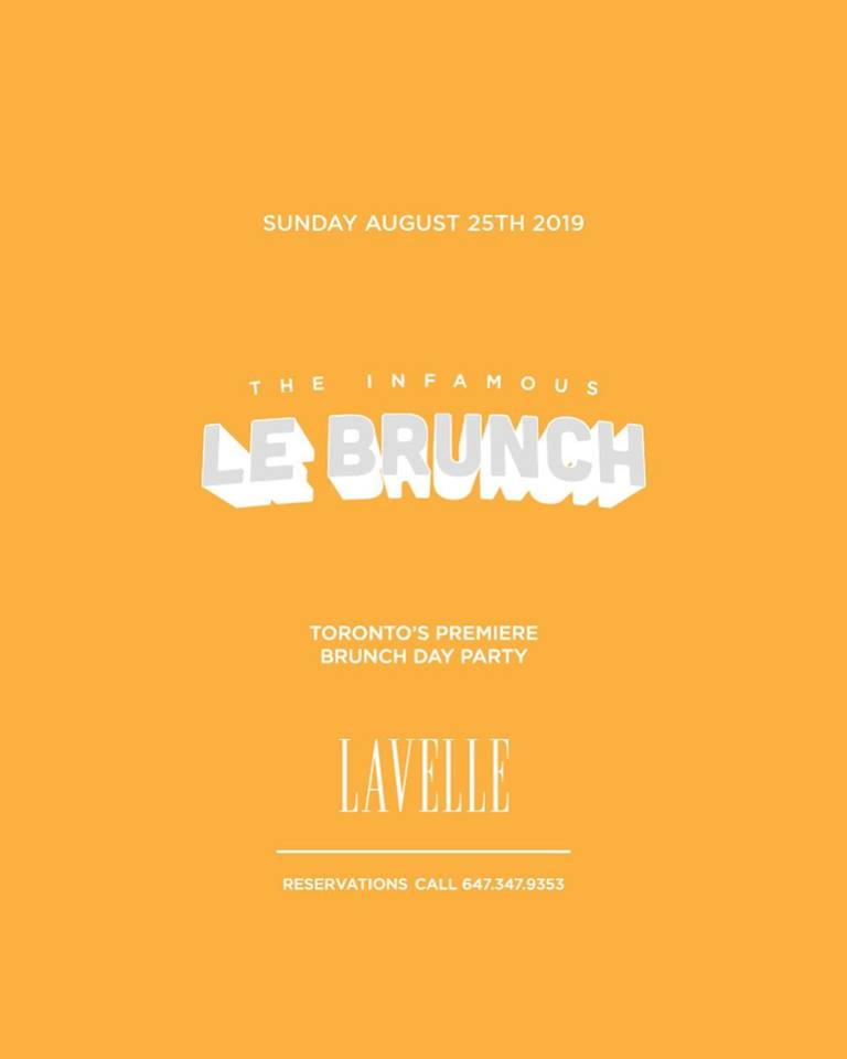 LeBrunch Returns August 2019 to Lavelle