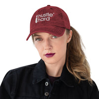 'I Hustle Hard' Cotton Twill Cap