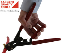 PEX Clamp Crimping Tool center handle expands hand gripping so you can begin the crimping process with one hand