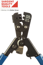 SARGENT® Weather Pack Crimper 20 - 18 AWG 16 - 14 AWG #3138 CT Ratcheted crimp tool for automotive applications.  Designed to crimp Weather-Pack sealed terminals to factory specs.