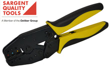 Ratcheted crimp tool for insulated terminals.  Economical and tough.