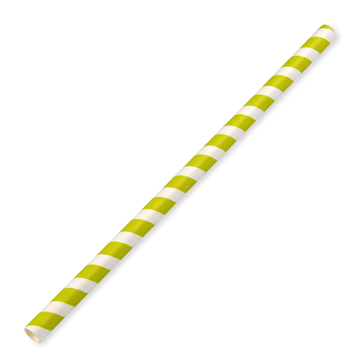 10mm large-bore green paper straws