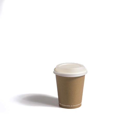 8oz White CPLA Coffee Cup Lids