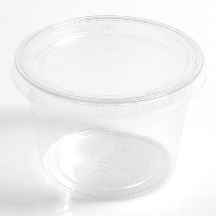 Clear PLA Lids to fit 60-280ml PLA BioCups & Sauce Cups