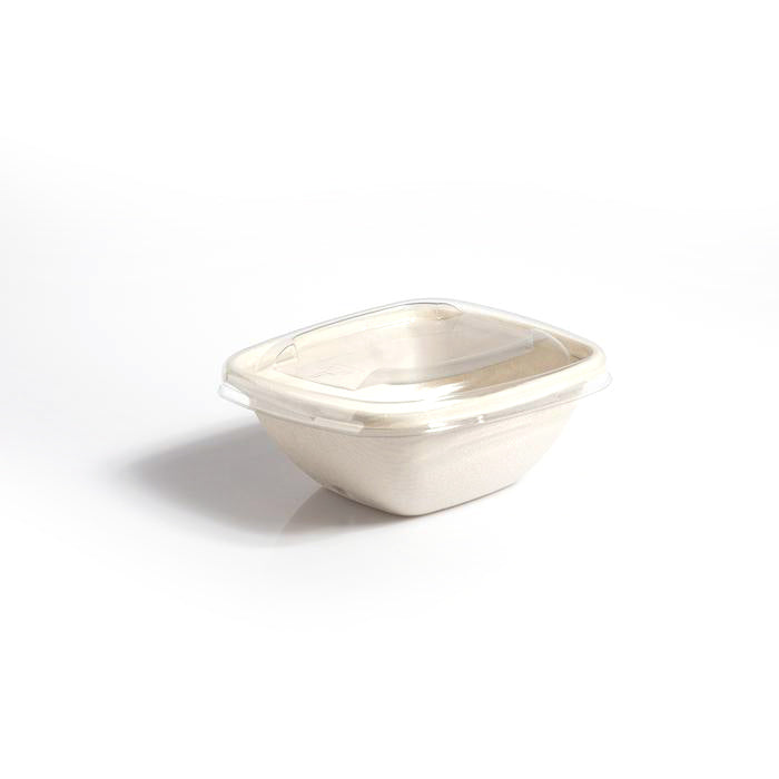 RPET Lids to fit 375/500ml Square Bowls