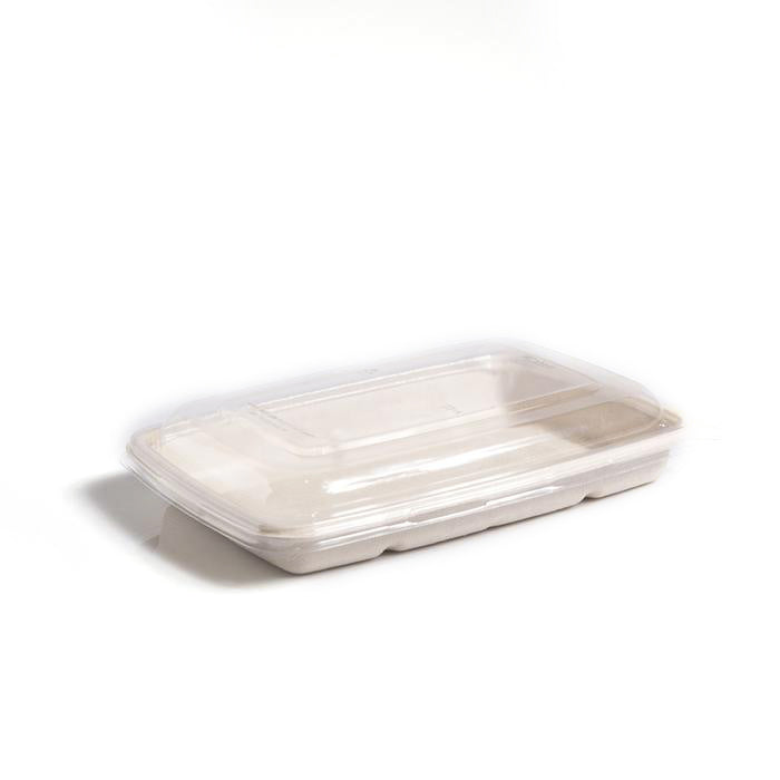 RPET Lids to fit 600/950ml Rectangular Tray