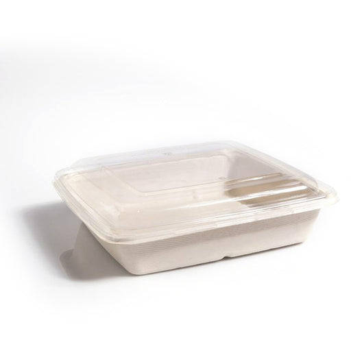 Square RPET Lids to fit 1000/1400ml Trays