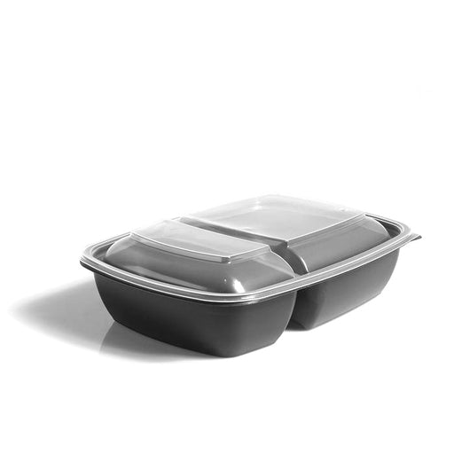 Clear Lids to fit 900ml Two-Compartment Fastpac Trays