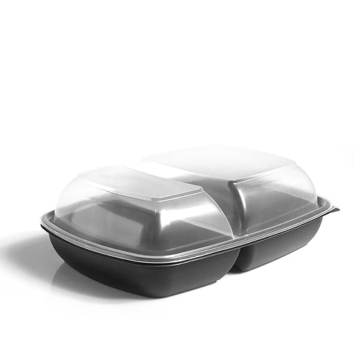 Domed Lids to fit Two-Compartment 1300ml Fastpac Trays