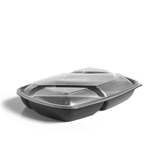 Flat Lids to fit Three-Compartment 1300ml Fastpac Trays