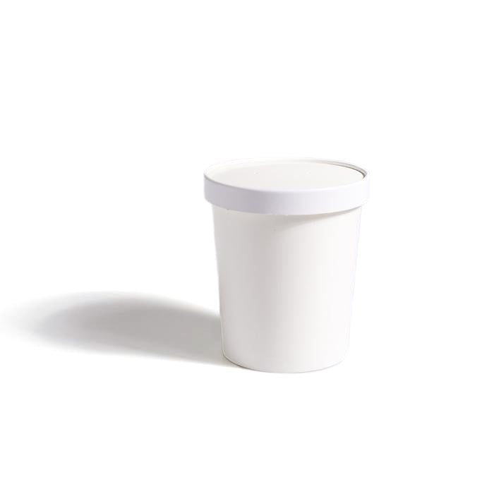Lid for 32oz White PE-Lined Soup Container