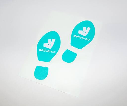Deliveroo - Footprint Floor Sticker