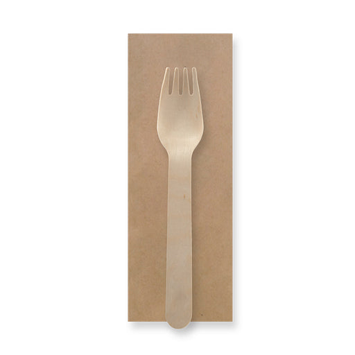 16cm Coated Wooden Fork Packs | FSC™ Certified